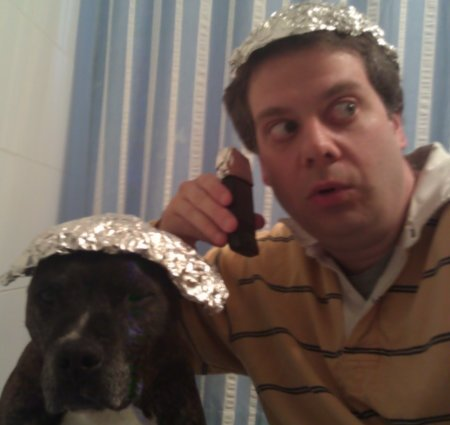 A Boy, His Dog, and Tin-Foil Hats.